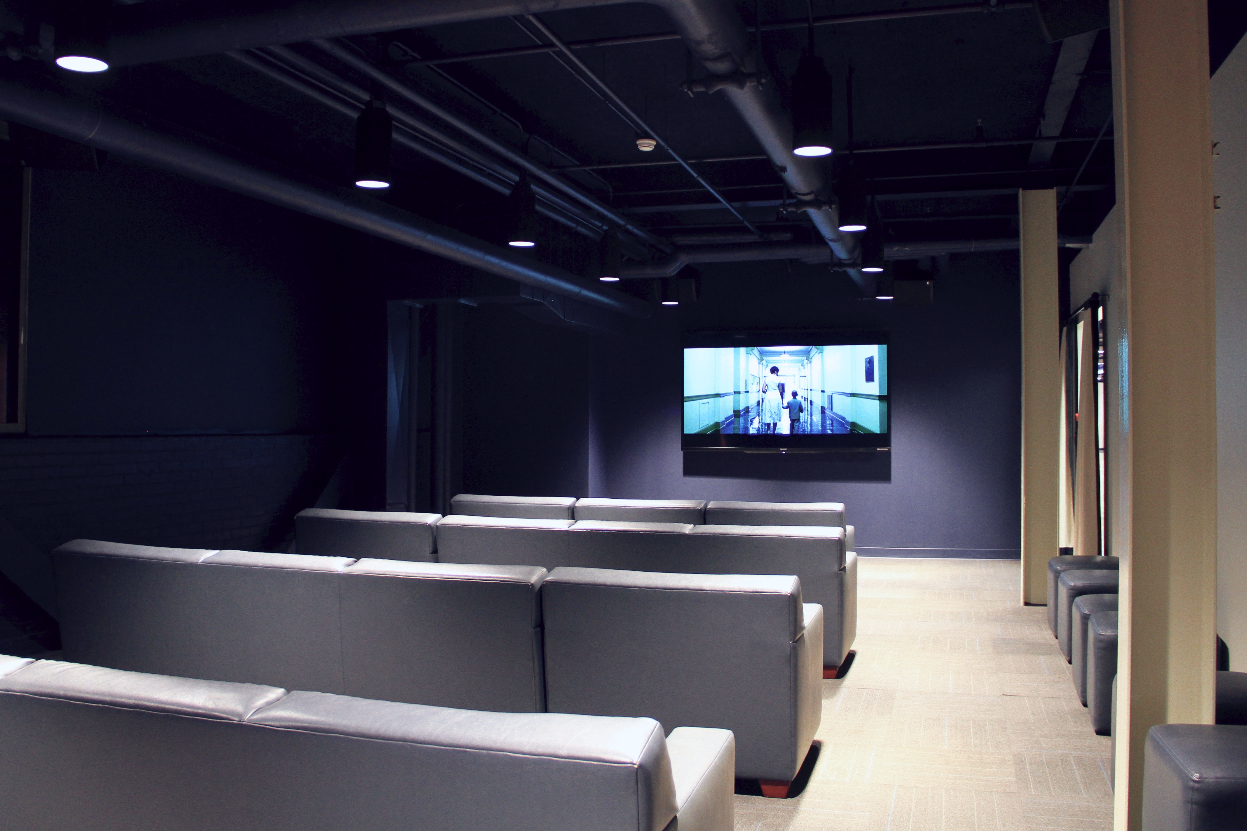 Photo of the inside of the DeBruce/Allen Fieldhouse Theater.