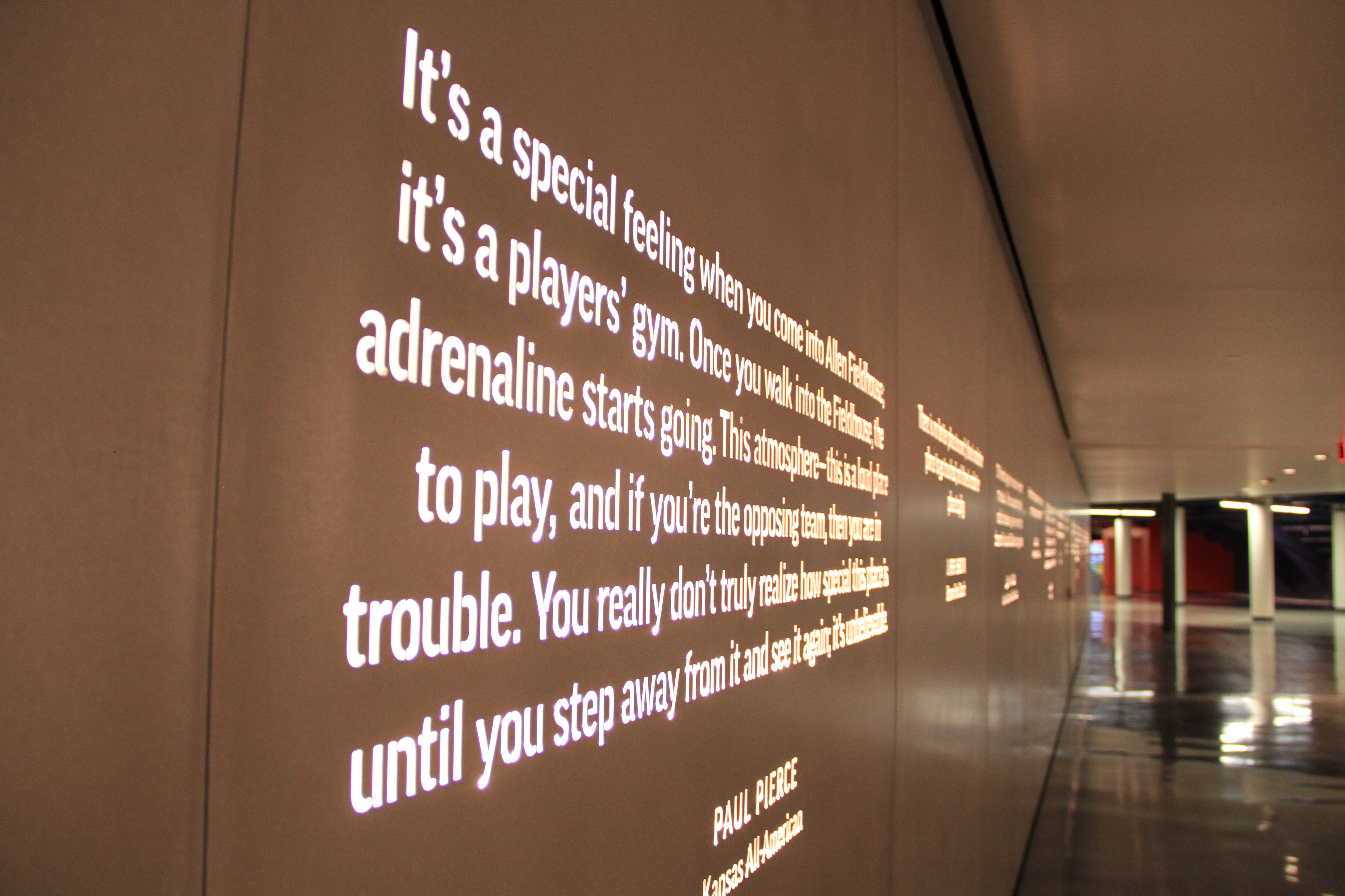 Photo of the Wall of Quotes from the DeBruce Center.