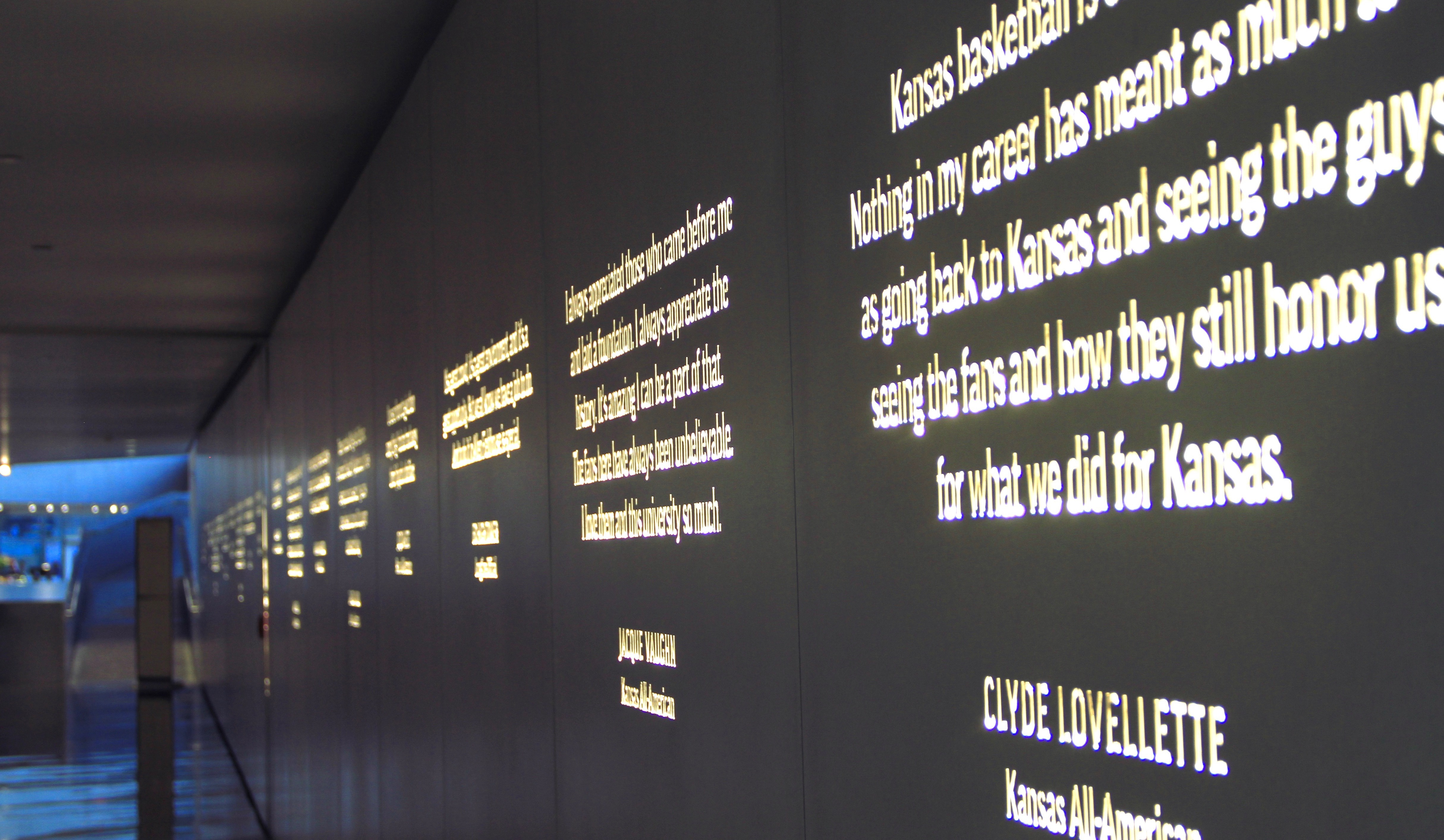 Photo of the Wall of Quotes from Allen Fieldhouse.